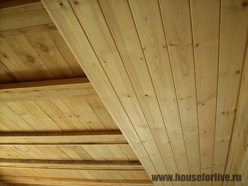 Потолок из имитации бруса своими руками 17