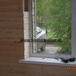заделка окна имитацией бруса