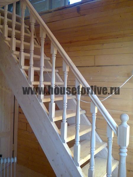 Изготовление лестниц в деревянном доме.