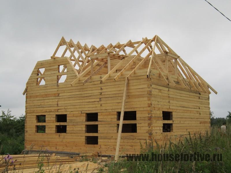 Строительство дома из бруса 10×10 (Александровский р-он д.Семеновское)