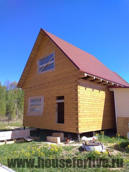 Отделка дома 6×6 (СНТ Лель, Ступинский район)