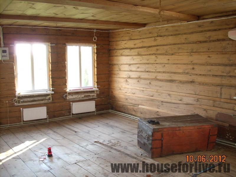 Внутренняя отделка старенького дома (с. Знаменское, Одинцовский р-он)