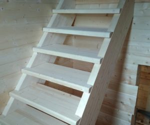 Двухмаршевая лестница с тумбой. (Ильинское, Жуковский р-он, Калужская область)