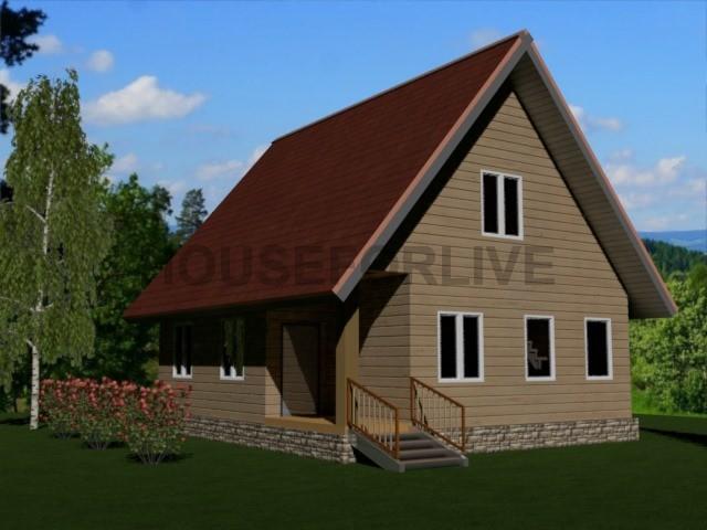 Проект-2. Дом из бруса 8×9.