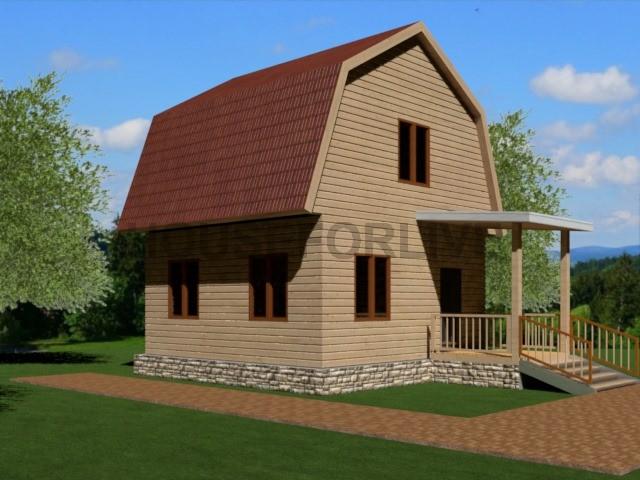 Проект-3. Дом из бруса 6×6.