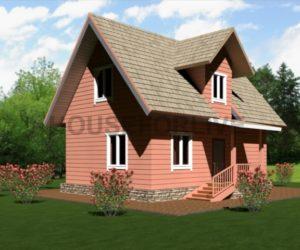 Проект-4 Дом из бруса 6×8.